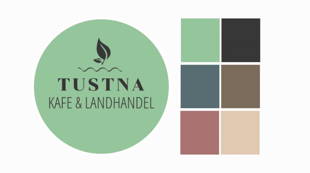 Tustna Kafe og Landhandel logo